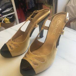 Chanel bi color gold and black